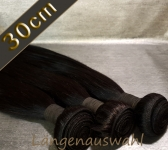 Brazil Straight Echthaar-Tresse 100g (ca.30cm)