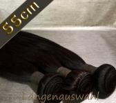 Brazil Straight Echthaar-Tresse 100g (ca.55cm)