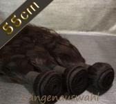 Brazil Wavy Echthaar-Tresse 100g (ca.55cm)