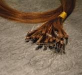 25 Strähnen Europäische Echthaar Loops Glatt (ca. 55cm)