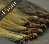 Europäische gefärbte Echthaartressen 50g (ca. 45cm)