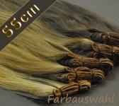 Europäisches gefärbte Echthaartressen 50g (ca. 55cm)