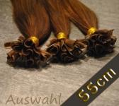 25 Strähnen Europäische Echthaar Bondings (ca. 55cm) gebondet