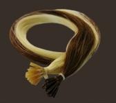 25 Strähnen Remy Indian Echthaar I-Tips 50cm Extensions gebondet