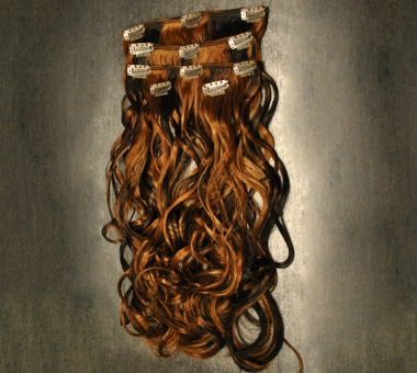 Clip On Set Wavy Kunsthaar 125g (ca. 50cm)
