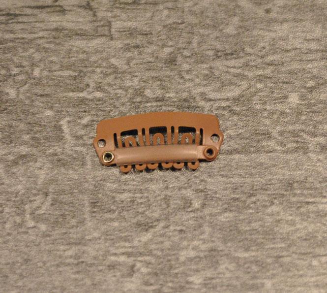 Toupetclip beschichtetes Metall 2,6cm x1,2cm